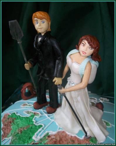 Торт свадьба туристов свадебные