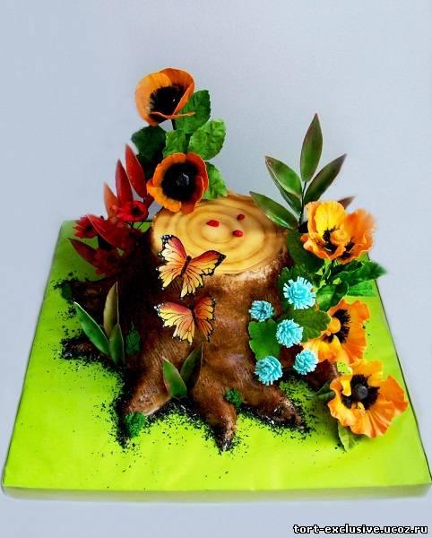 Торт на 5 ую годовщины деревянная